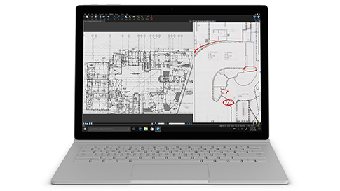 Surface Book 2 بشاشة PixelSense™ مقاس 13.5 بوصة ومعالج Intel® Core™ i5-7300U للطراز i5 13.5