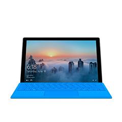 جهاز Surface Pro 4، كما يبدو من الواجهة