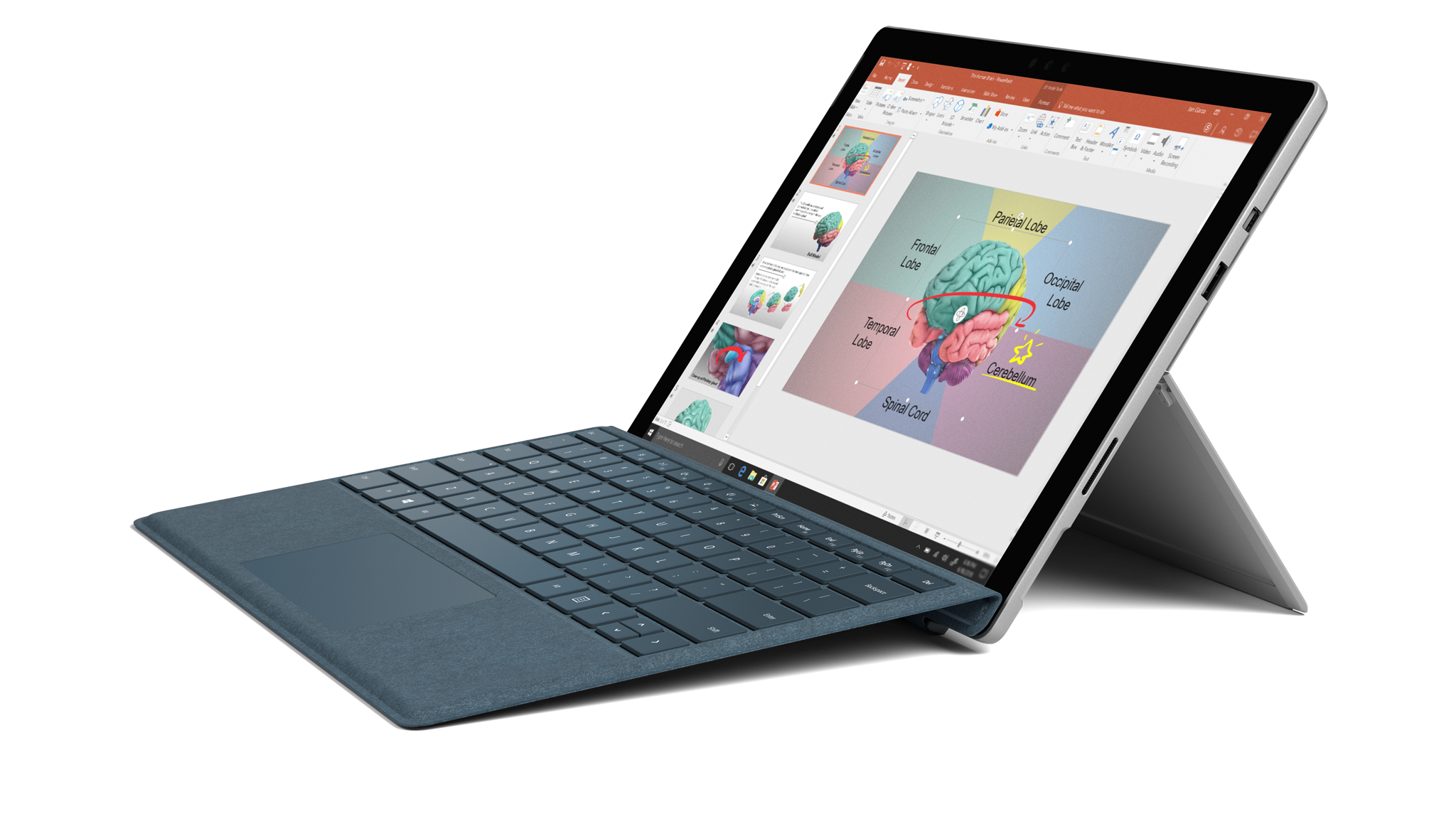 مظهر جانبي لجهاز Surface Pro
