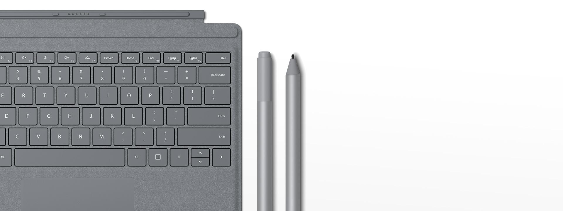 غطاء Surface Pro Signature Type cover، قلم Surface Pen