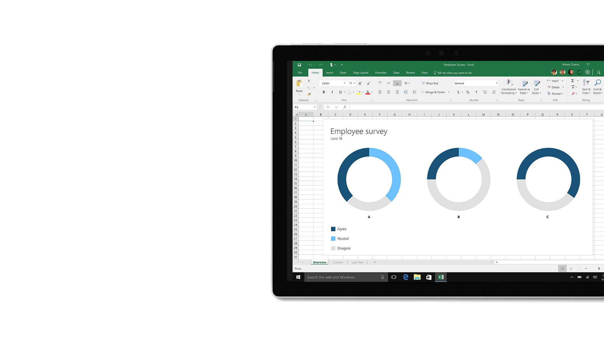 صورة واجهة المستخدم في Microsoft Excel
