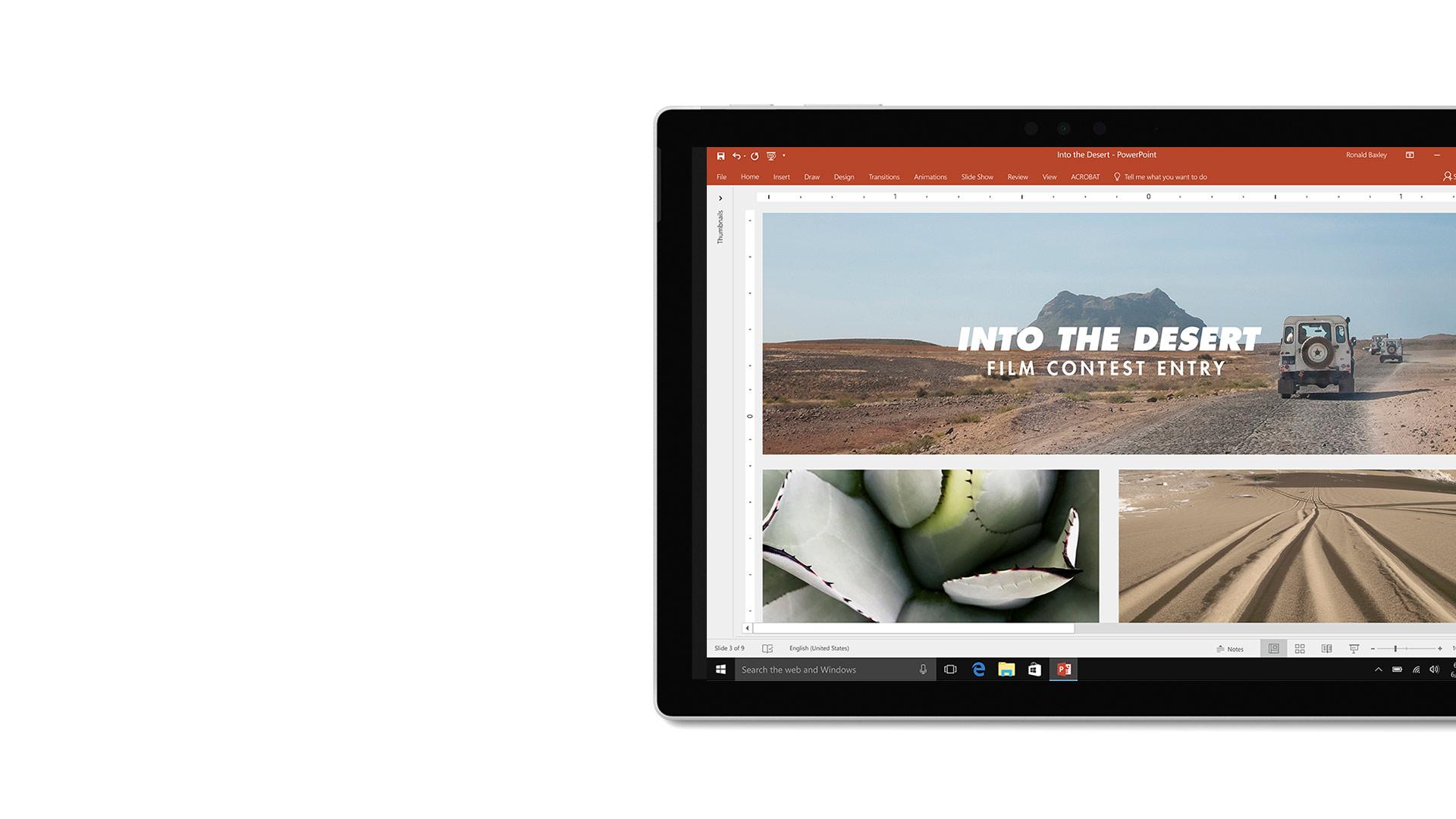 صورة واجهة المستخدم في Microsoft PowerPoint