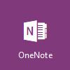 Logo OneNotu, otevřený Microsoft OneNote Online