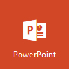 Logo PowerPointu, otevřený Microsoft PowerPoint Online