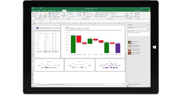 Stránka Sdílet v Excelu se zvolenou možností Pozvat lidi