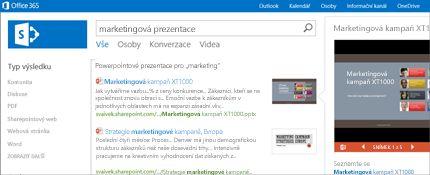 Snímek obrazovky se sharepointovou stránkou Lidé, kde se můžete snadno spojit s ostatními