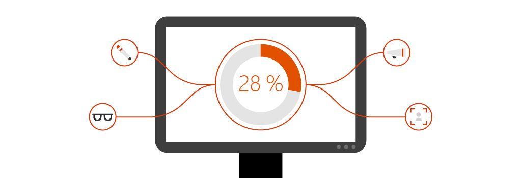 Monitor počítače zobrazující mapu plánování