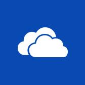 Logo Microsoft OneDrivu, přečtěte si informace na stránce o mobilní aplikaci OneDrive