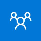 Logo Microsoft Outlooku Groups, přečtěte si informace na stránce o mobilní aplikaci Outlook Groups