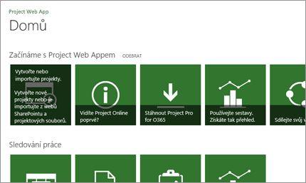 Rychlé zahájení práce s Microsoft Projectem