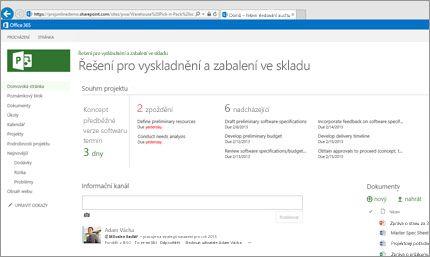 Možnost pracovat s Microsoft Projectem prakticky kdekoli