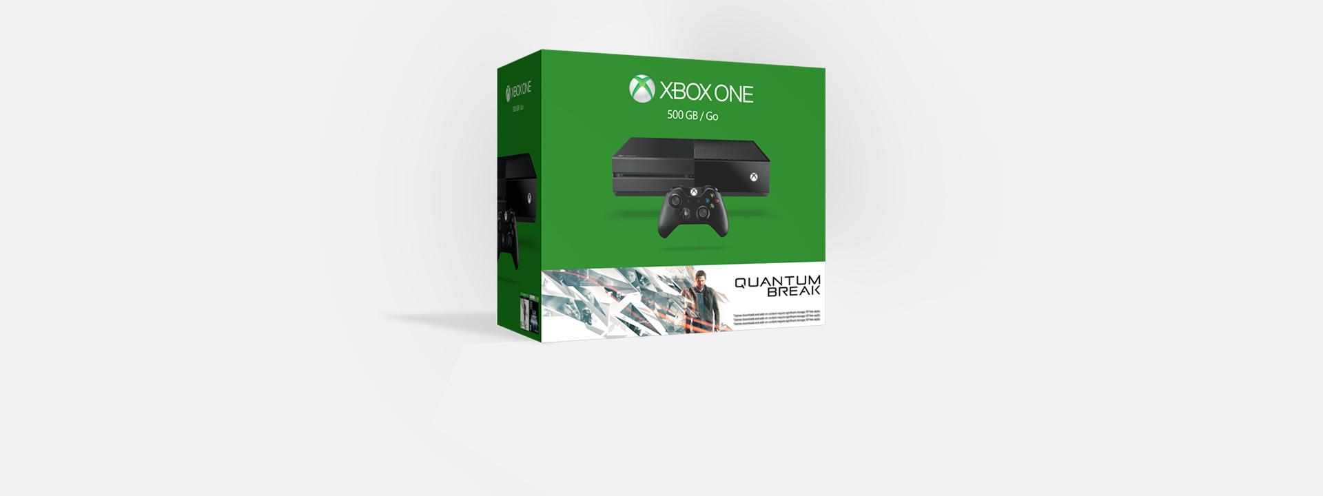 Krabice sady Xboxu One shrou Quantum Break