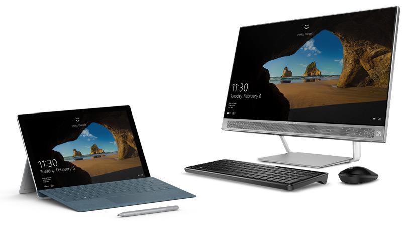 Surface Go og Surface Studio
