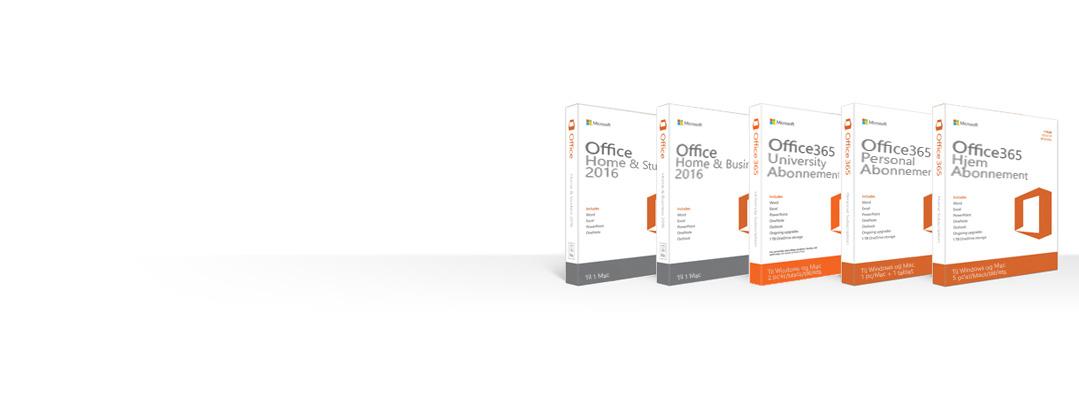Administrere, downloade, sikkerhedskopiere eller gendanne Office-produkter