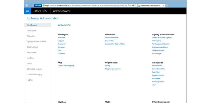 Nærbillede af siden Vis resultater for en søgning i Exchange Online.