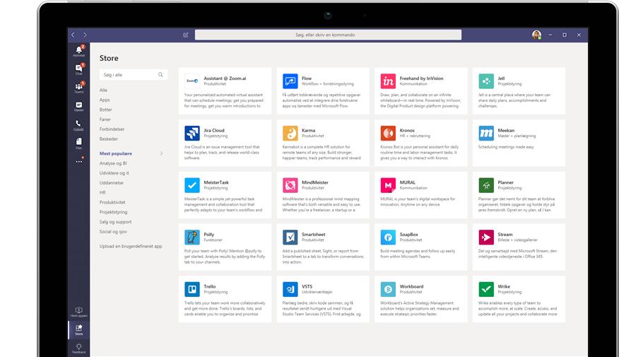 Microsoft App Store vist i Teams