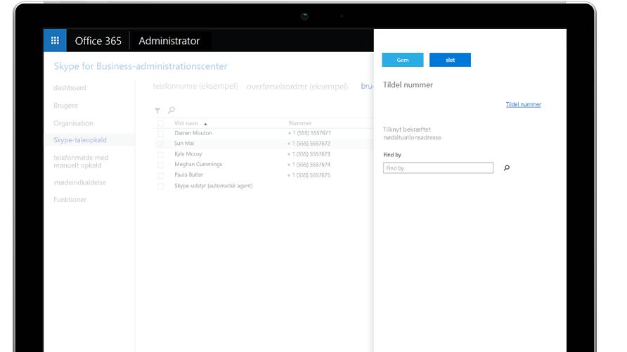 Microsoft Teams-opkald, der vises på en mobiltelefon og tablet