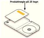 Produktnøgleplacering i dvd-etuiet