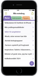 OneNote til iPhone