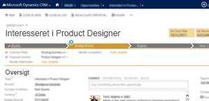 En illustration af en side med en salgsmulighed i Microsoft Dynamics CRM Online.