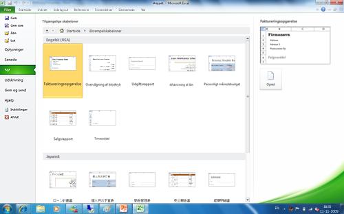 Med Office Language Packs får du forbindelse til gratis Office-skabeloner på brugergrænsefladens sprog