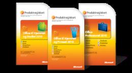 Bruge dit Office 2010-produktnøglekort