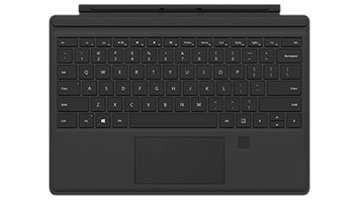 Surface Pro 4 Type Cover med fingertryk-id