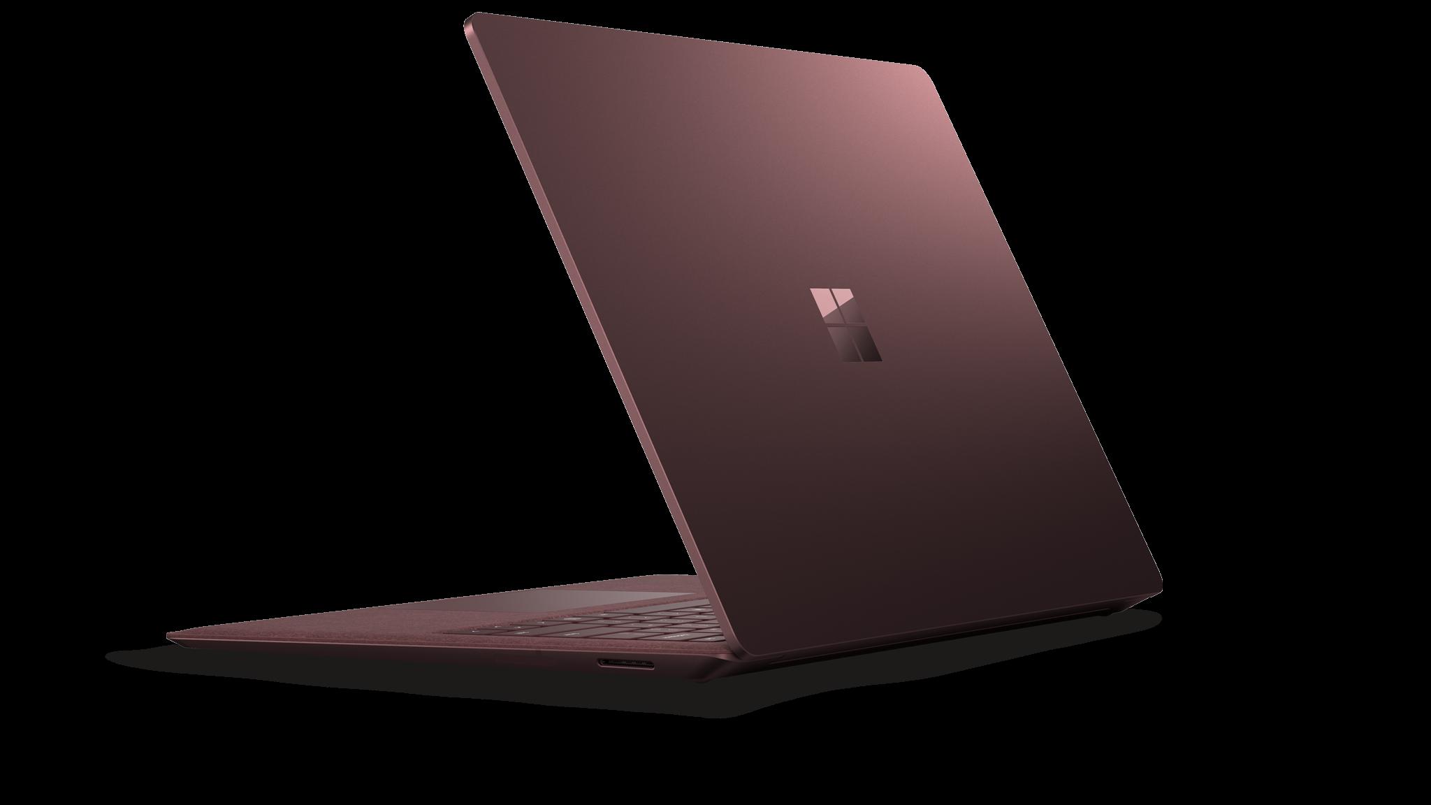 Surface Laptop 2 set fra siden