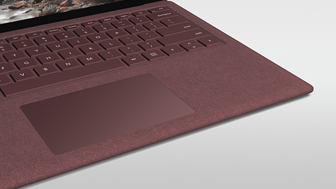 Surface Keyboard med Alcantara-stof.