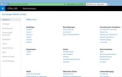 """Nahaufnahme der Seite """"Vorschau Ergebnisse"""" einer Suche in Exchange Online."""