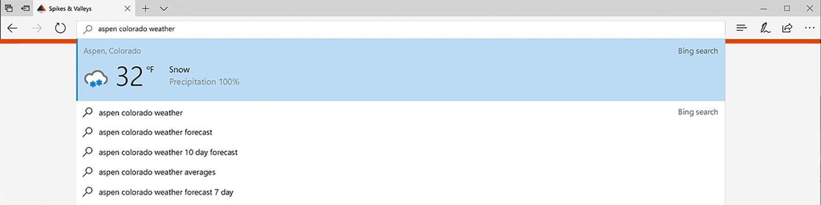Microsoft Edge liefert sofort Antworten