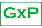 GxP-Logo, Informationen zu Good Laboratory, Clinical, and Manufacturing Practices – gute Labor-, Klinik- und Herstellungspraxis