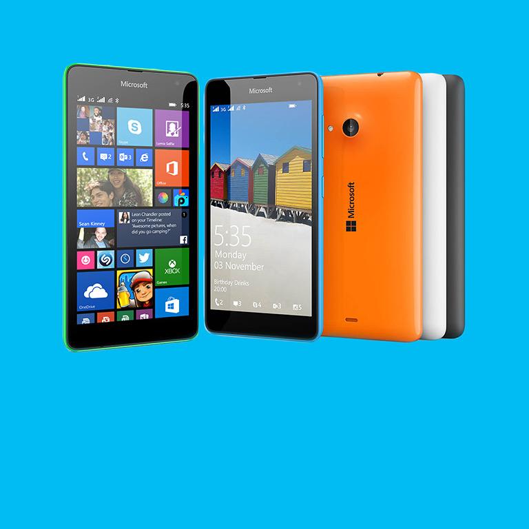 Das Lumia 535 Dual SIM kommt mit integriertem Office. Jetzt kaufen.
