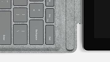 Nahansicht von der Tastatur des Signature Type Covers.