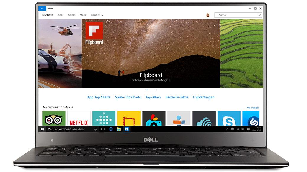 Dell-Laptop mit Windows10