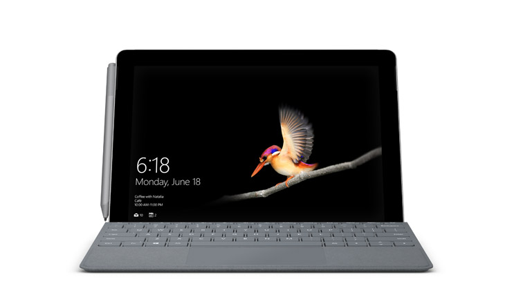 Surface Go mit LTE Advanced mit Surface Go Signature Type Cover und Surface Pen