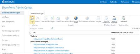 Screenshot des SharePoint Admin Centers, das die Verwaltung von Websites und Benutzern zu einem Kinderspiel macht