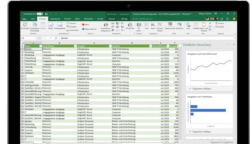 """Seite """"Freigeben"""" in Excel mit der ausgewählten Option """"Personen einladen"""""""