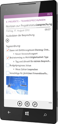 OneNote für Windows Phone