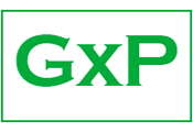 GxP-Logo, Informationen zu Good Laboratory, Clinical, and Manufacturing Practices – gute Labor-, Klinik- und Herstellungspraxis