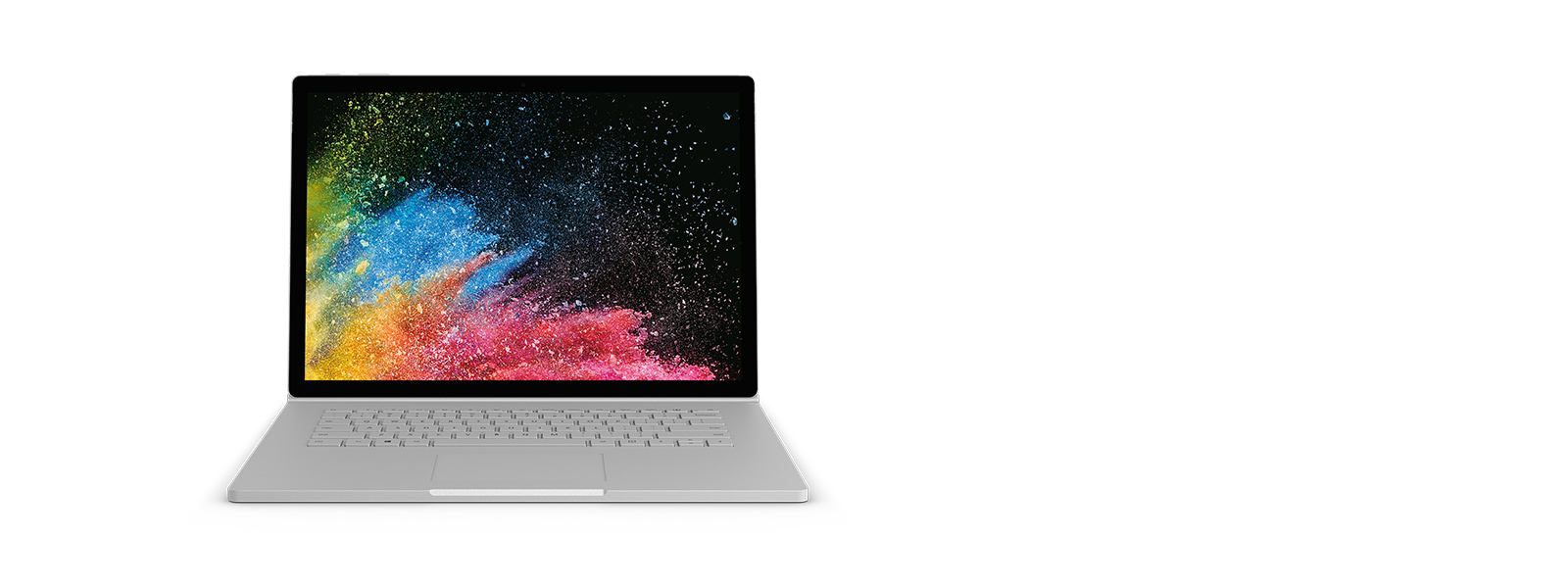 Surface Book 2 im Laptop-Modus mit Screenshot.