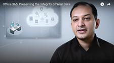 Rudra Mitra während der Vorstellung der Datenschutzfunktionen für Office 365, Informationen zum Datenschutz in Office 365
