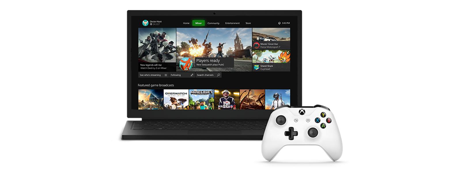 Mixer mit neuer Benutzeroberfläche für Windows 10-Spiele