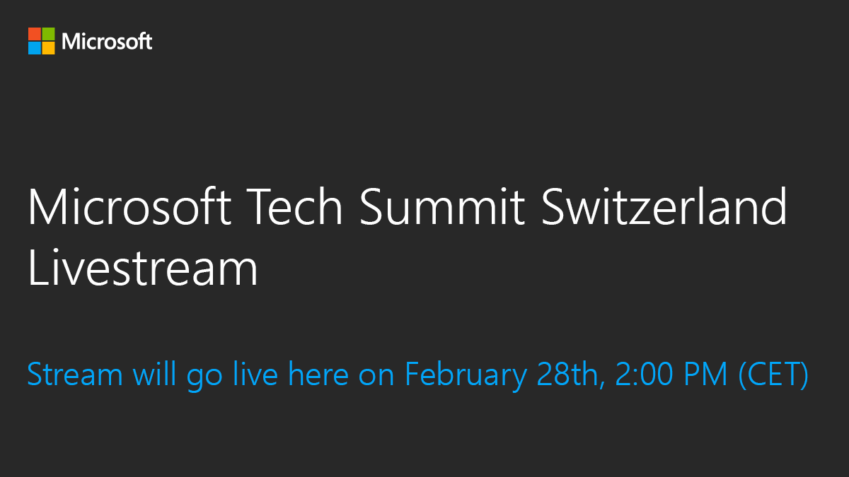 Microsoft tech summit switzerland lets create the future together xflitez Images