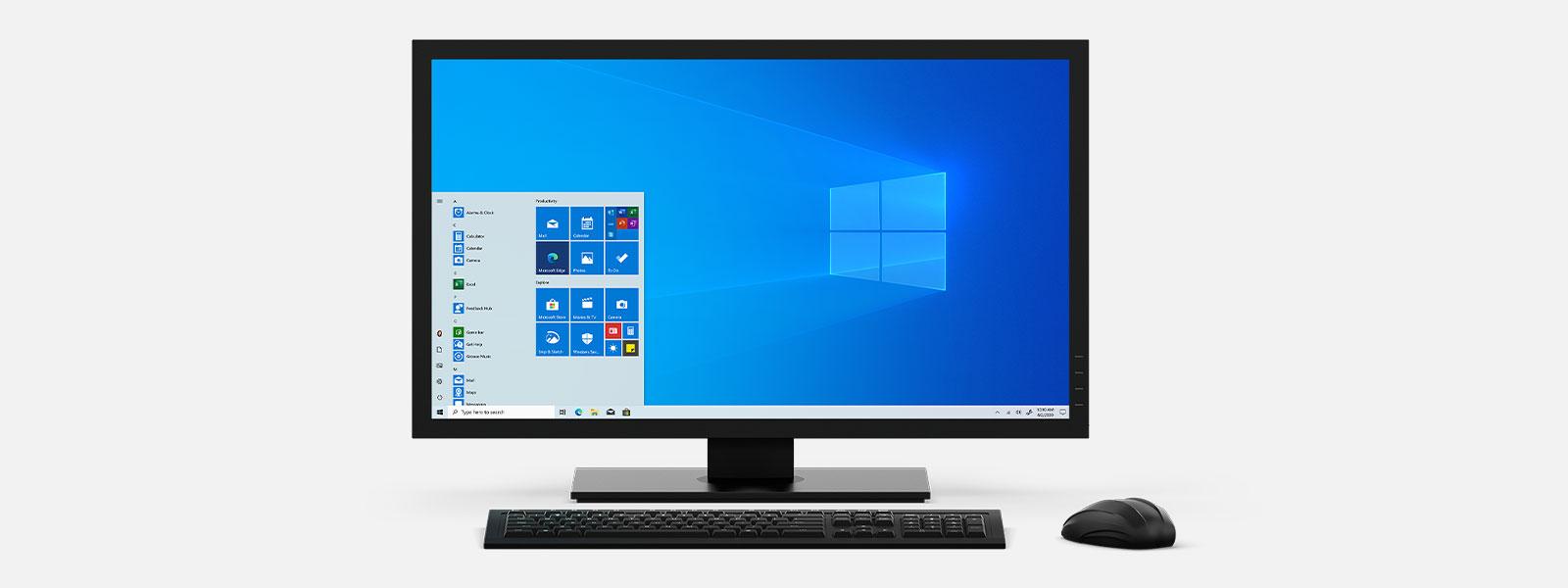 Sammlung von Desktop- und All-in-One-Geräten mit Windows 10