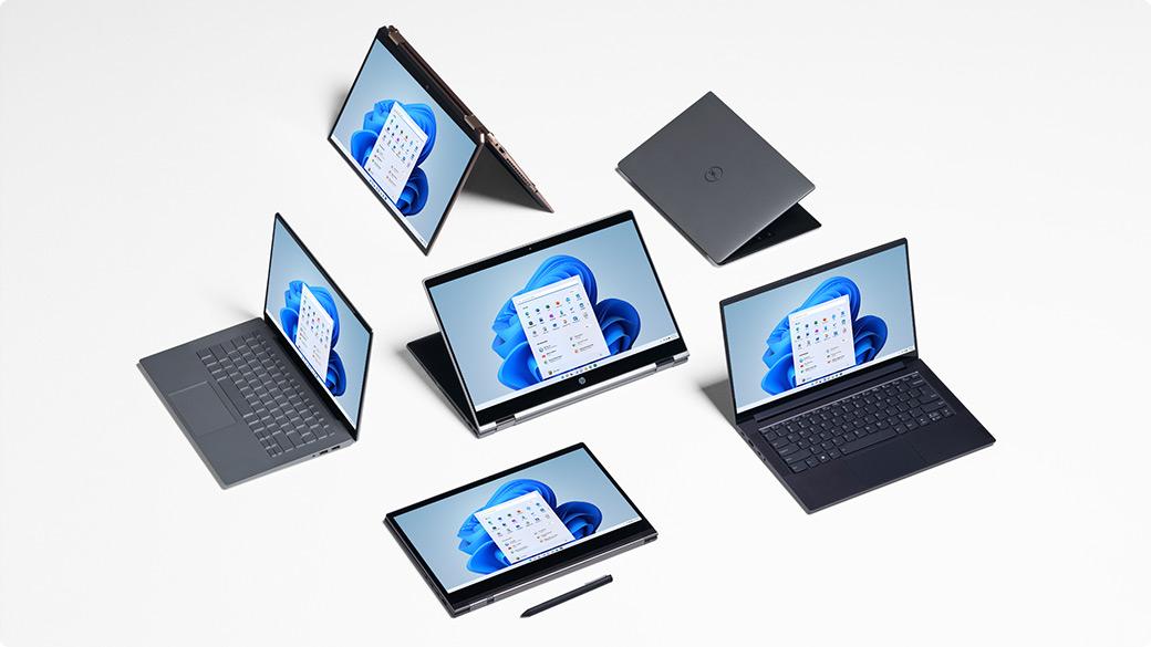 Eine Reihe von Geräten