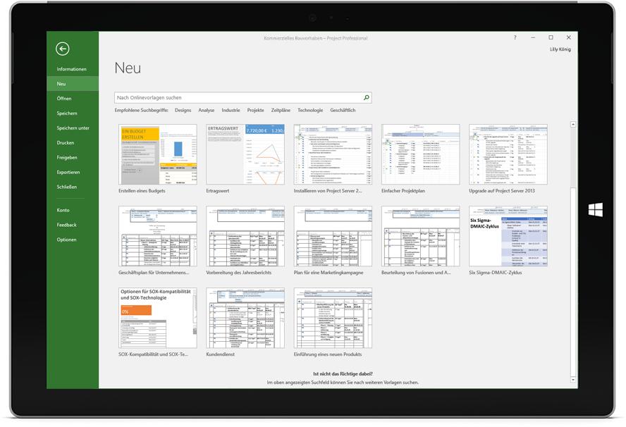 microsoft projektmanagement vorlagen planung und werkzeuge