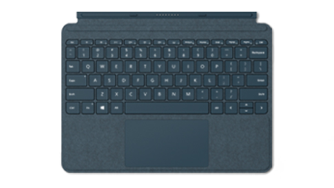 Surface Go Signature Type Cover in Kobalt Blau