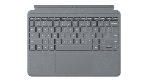 Surface Go Signature Type Cover in Platin Grau