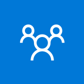 Microsoft Outlook Groups-Logo, Informationen zur mobilen App für Outlook Groups (In-Page)